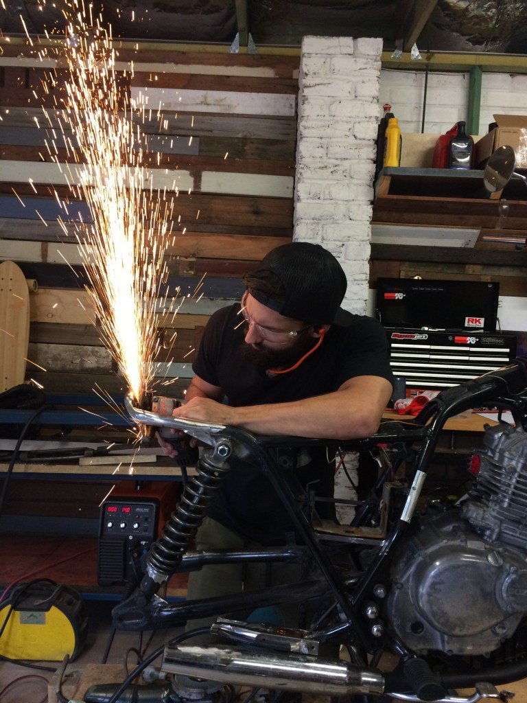 Custom Motorcycle cafe racer scrambler fabrication modification