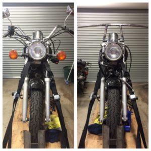 custom handlebars bobber
