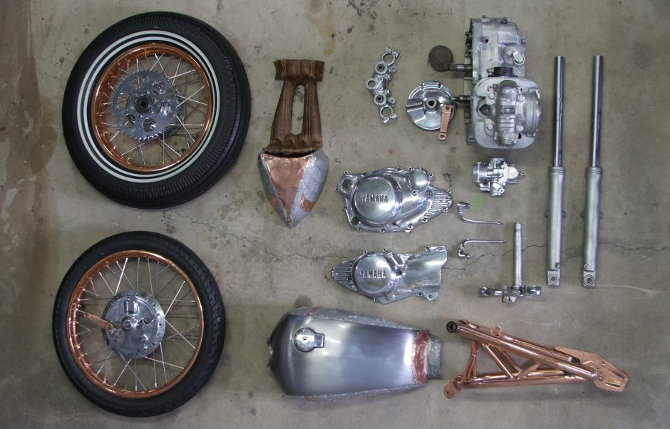 SR250 SR500 Cafe Racer parts Project bike pieces
