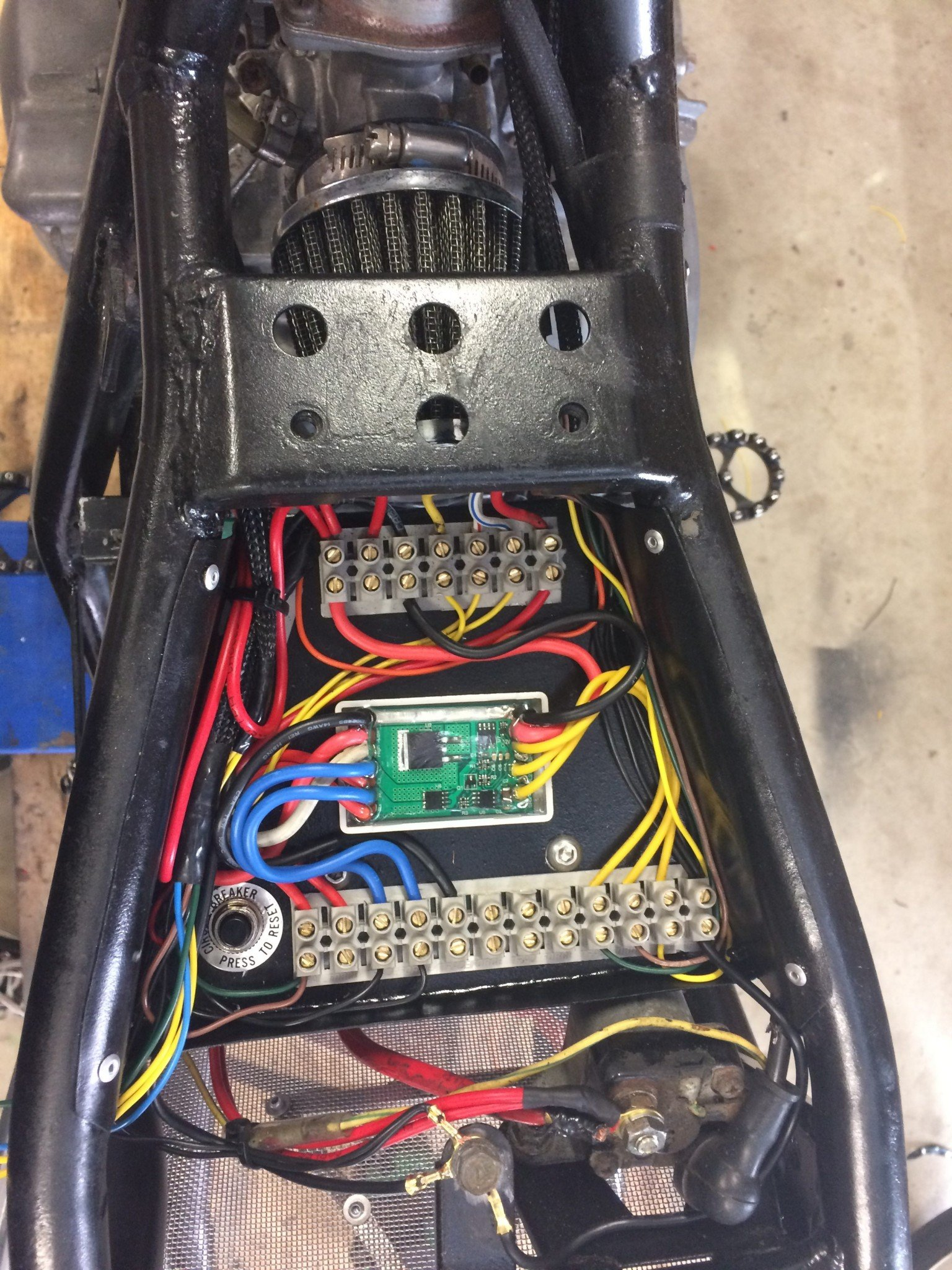 Motorcycle Electrics 101 Purpose Built Moto On A 1986 Honda Cmx450 Wiring Diagram Cafe Racer Tray Led Flasher Unit Solid State Switching