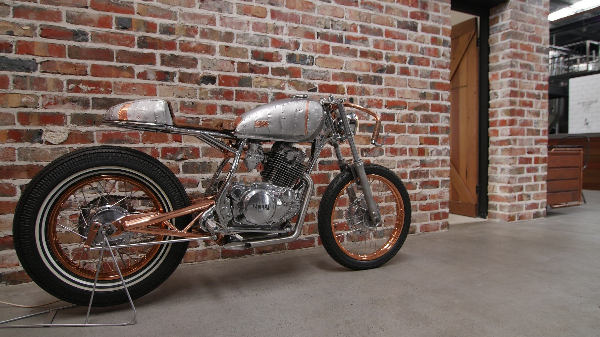 1980 yamaha sr250 custom cafe racer- hand built on the gold coast