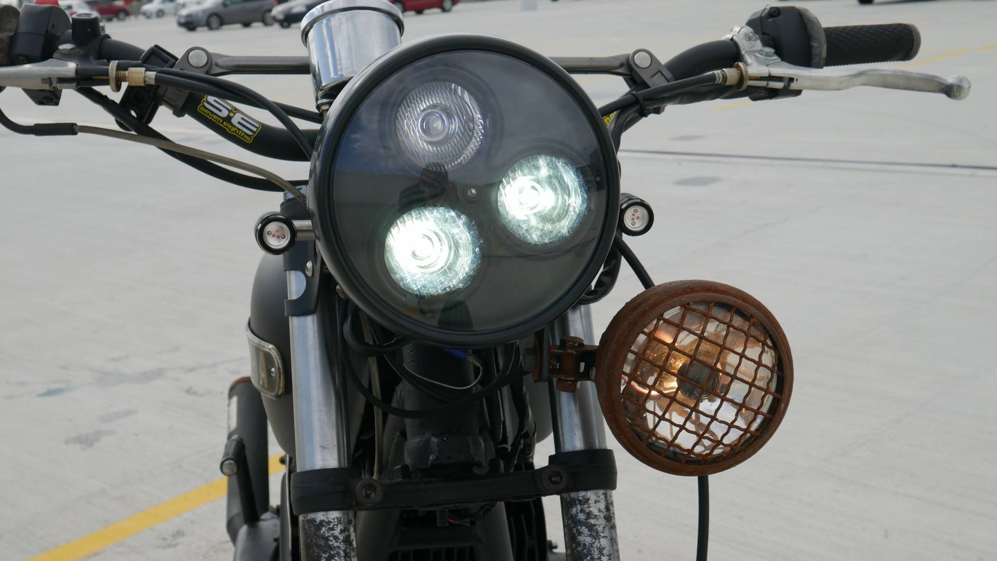 LED turn signals 2 stroke vintage racer headlight motorcycle parts