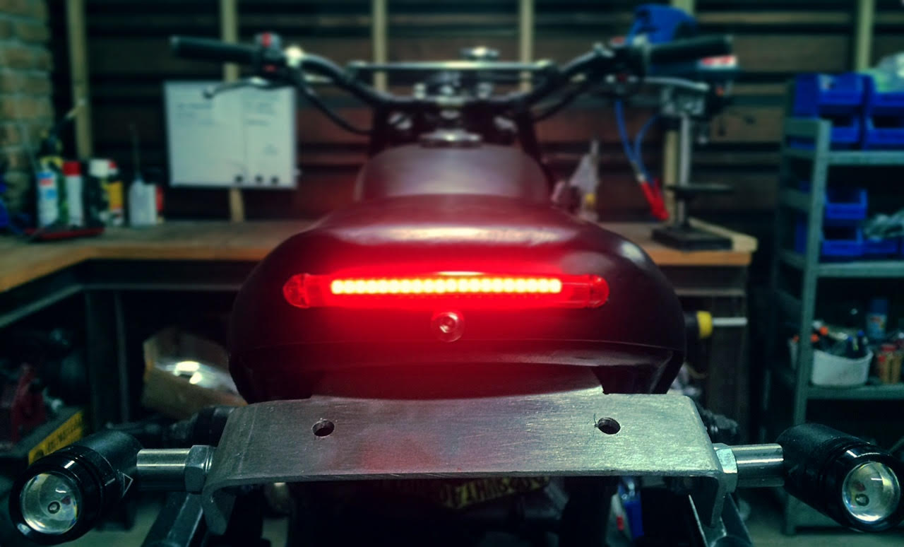 Custom LED lghts cafe racer australia