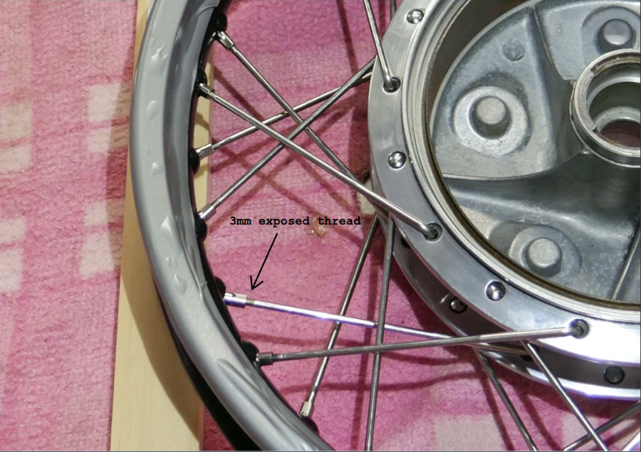 classic vintage motorcycle laced wheels building gold coast