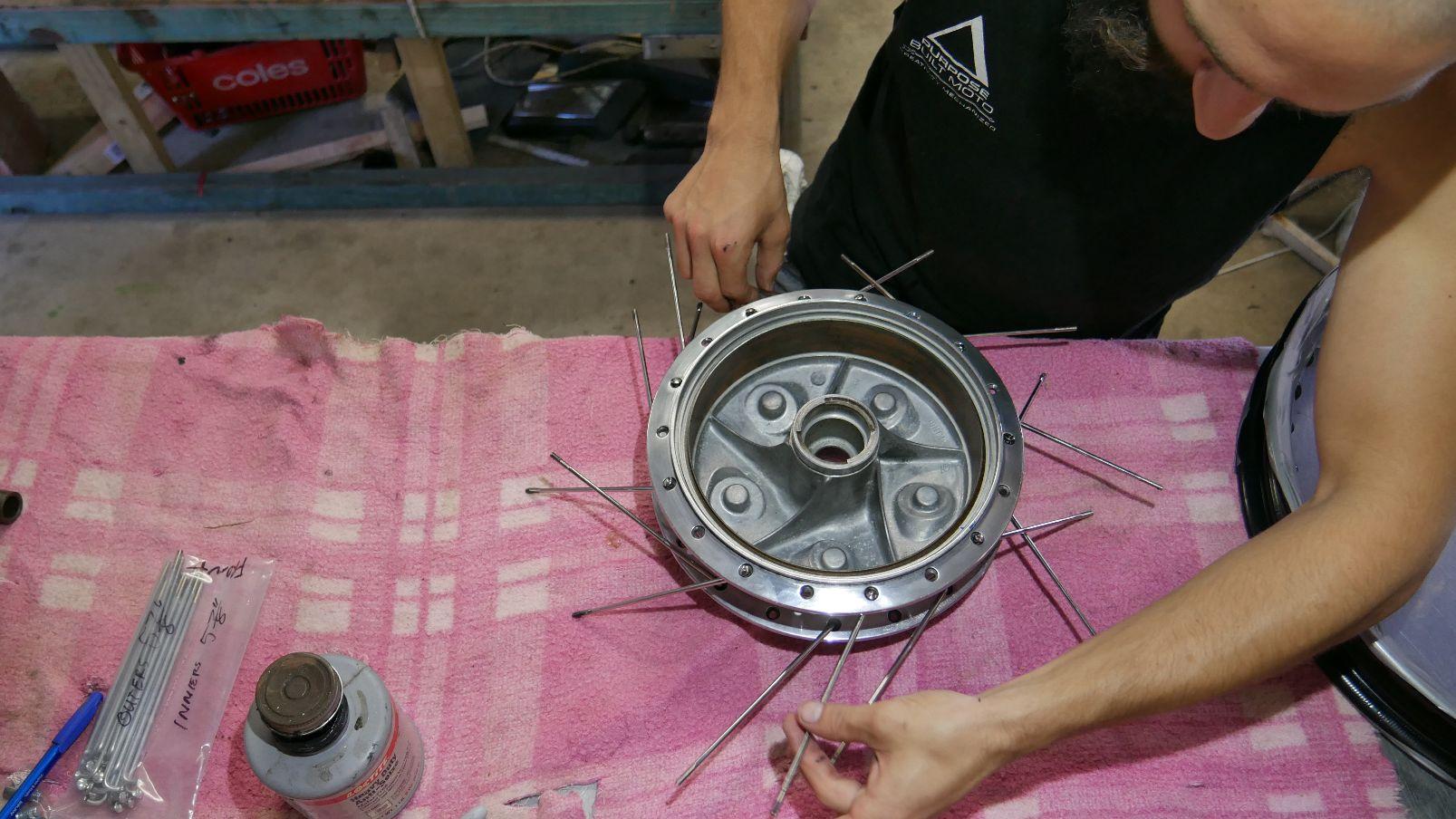 motorcycle spoked wheels