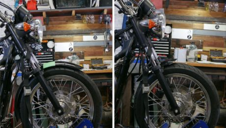 bobbing front fender trimming cutting motorcycle guard