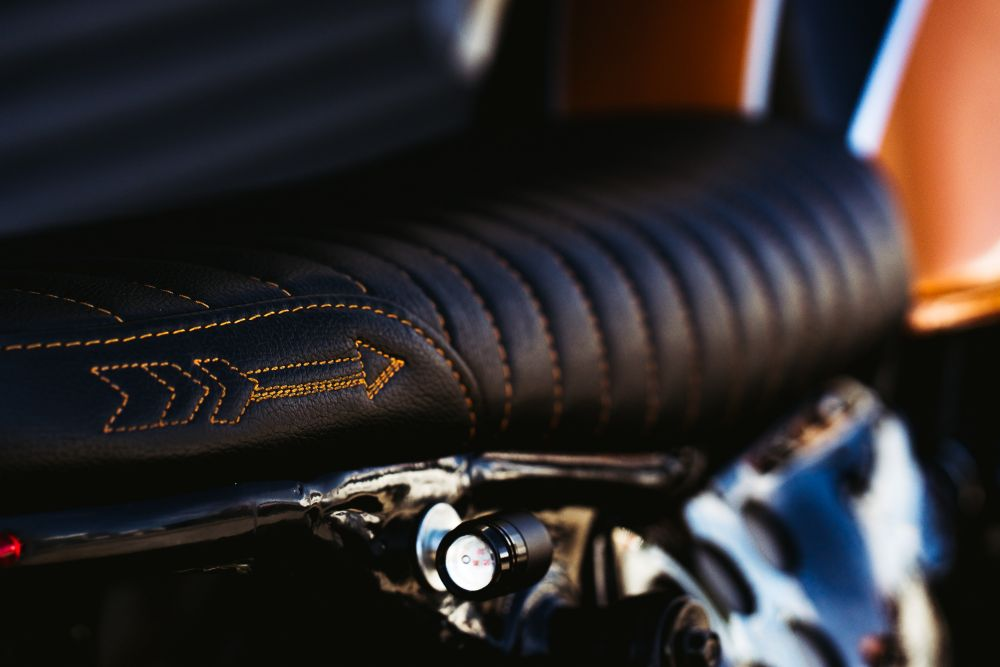 Custom Motorcycle seat upholstery Gold coast cafe racer brat style street fighter custom parts motorbike