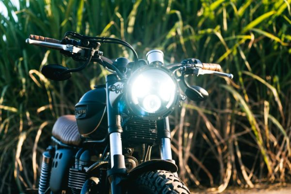 Custom LED HEadlight Triumph Scrambler Australia PArts Accessories Motorcycle