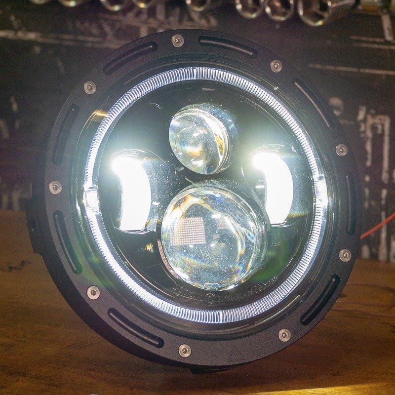 7 inch motorcycle headlight cafe racer bobber chopper