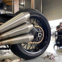 Custom Motorcycle Slip On Muffler