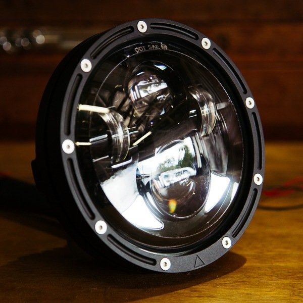 Cafe Racer Motorcycle Headlight : Flashpoint high intensity led motorcycle headlight
