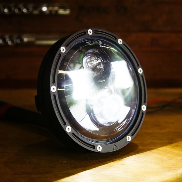 Scrambler bobber headlight LED Lights Australia motorcycle custom