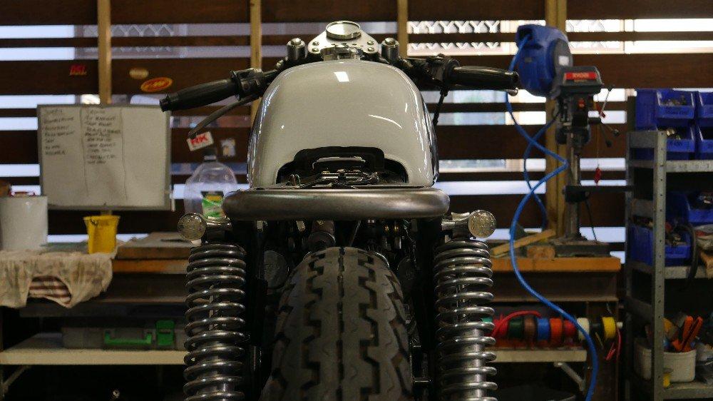 Brat style seat Honda cafe racers motorcycle parts custom