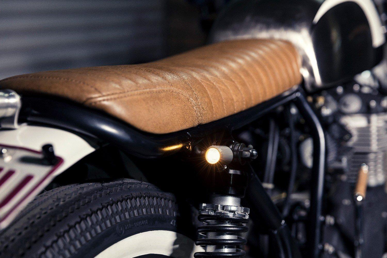 LED turn signal indicator custom bike seats gold coast cafe racer