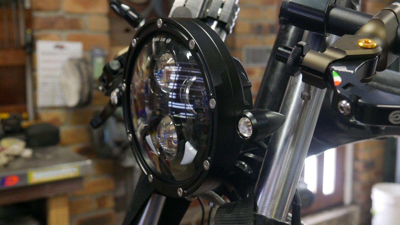 LED headlight custom cafe racer tracker lights Australia