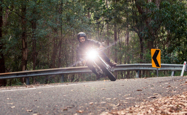 LED lighting Gold coast Australia Headlight cafe racer custom motorcycle