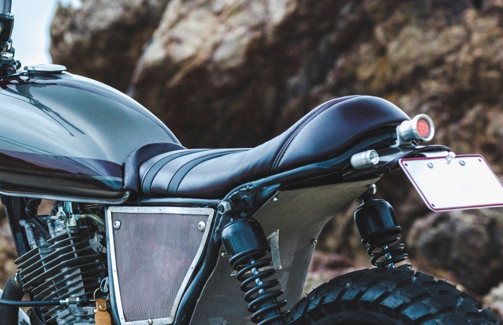 Scrambler seat custom made upholstery brisbane motorcycle seats