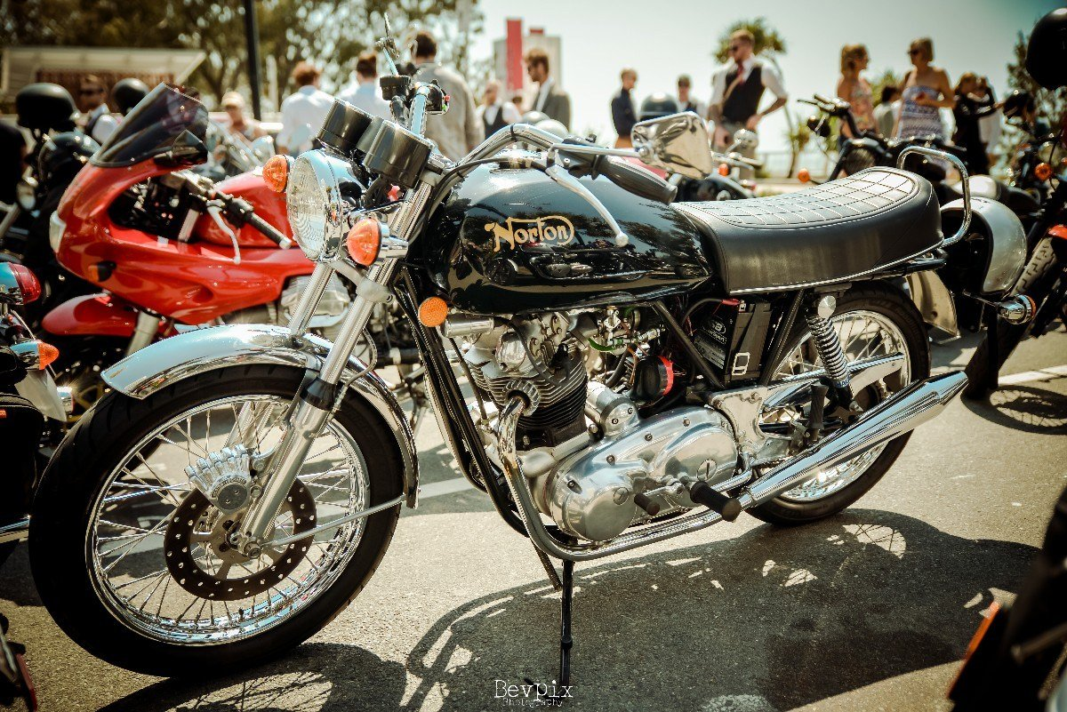 Cafe Racer Norton CHarity RIde Gold Coast Motorcycle event
