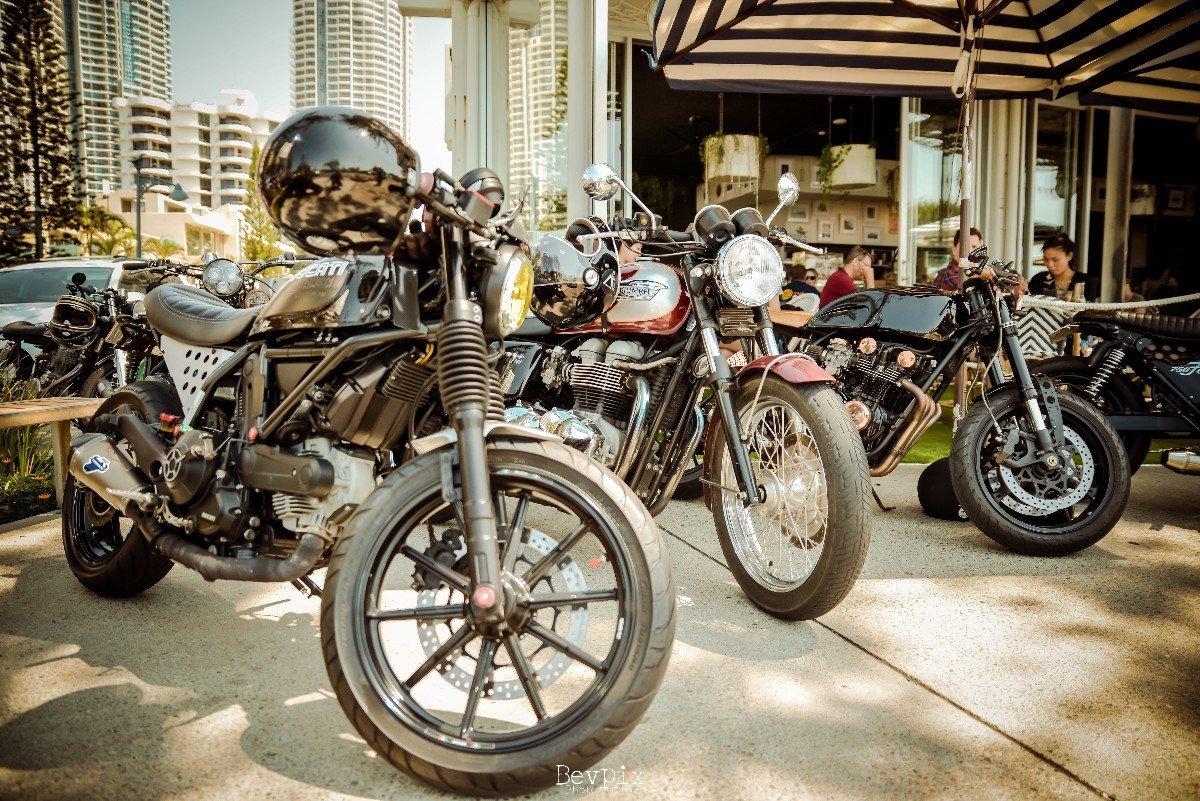 Modern Retro Cafe Racer Ducti Triumph Gentlemans Ride 2017 Gold Coast events
