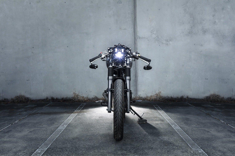Custom LED headlight Cafe Racer
