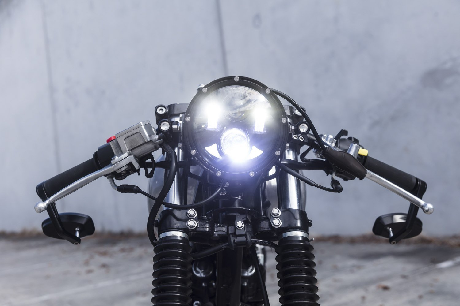 Cafe Racer LED headlights motorcycle electronics