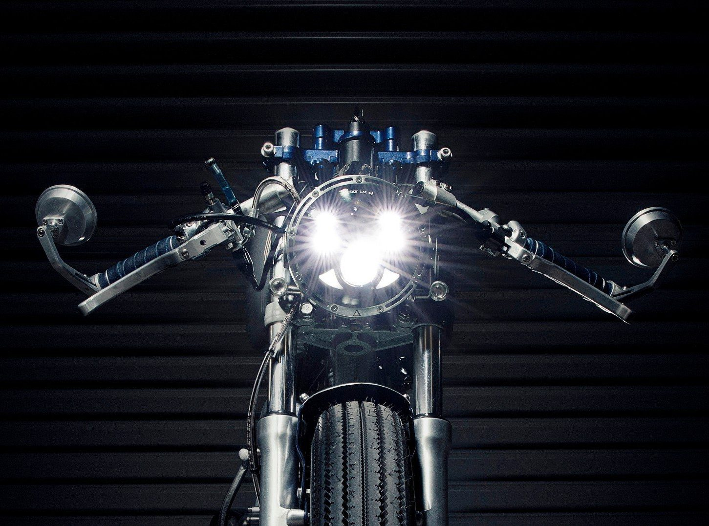 Installing a cafe racer led headlight