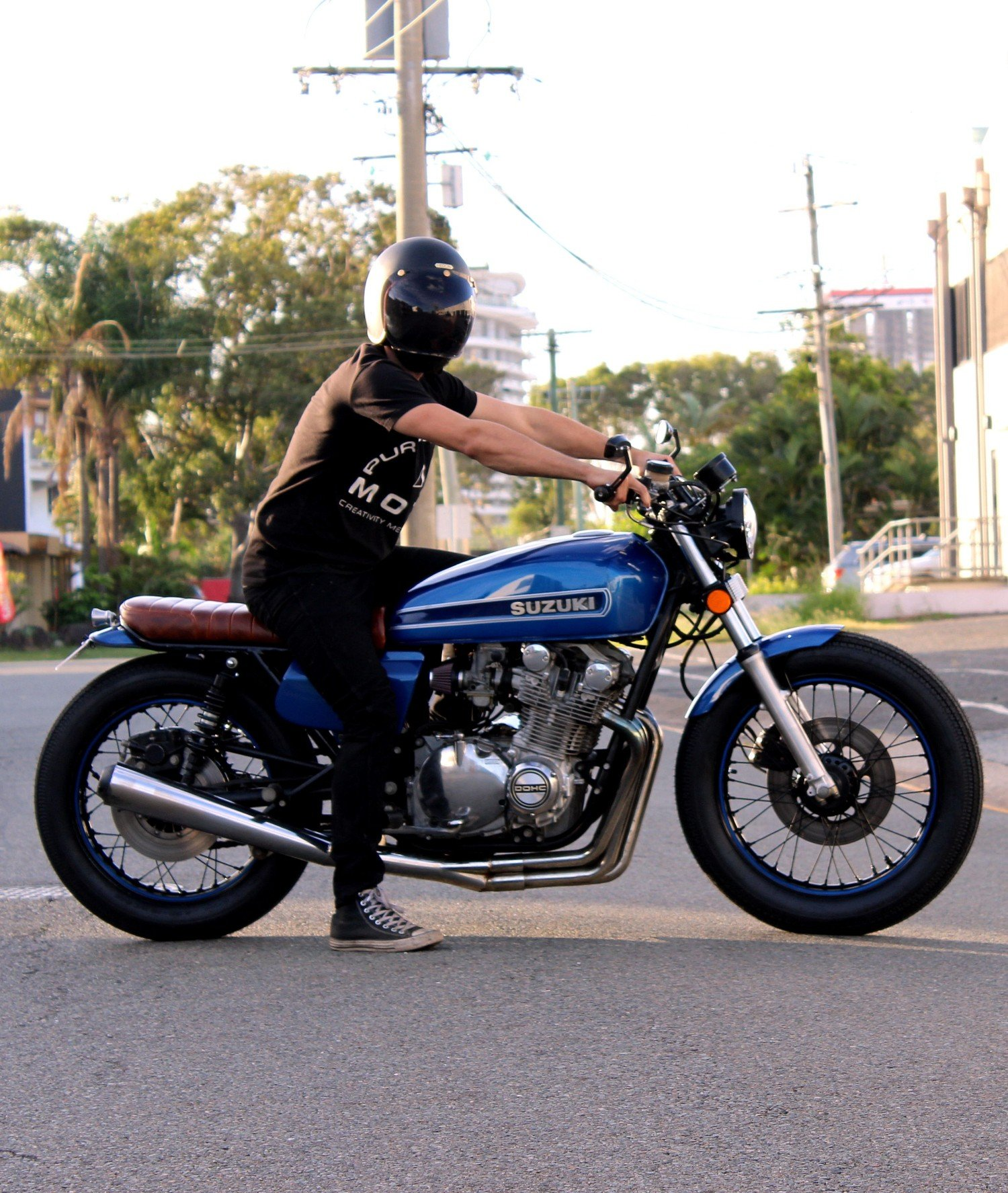 Cafe Racer rider Gold Coast