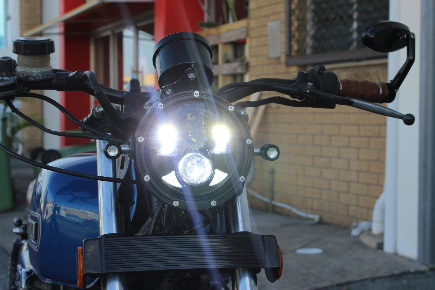LED headlight cafe racer australia