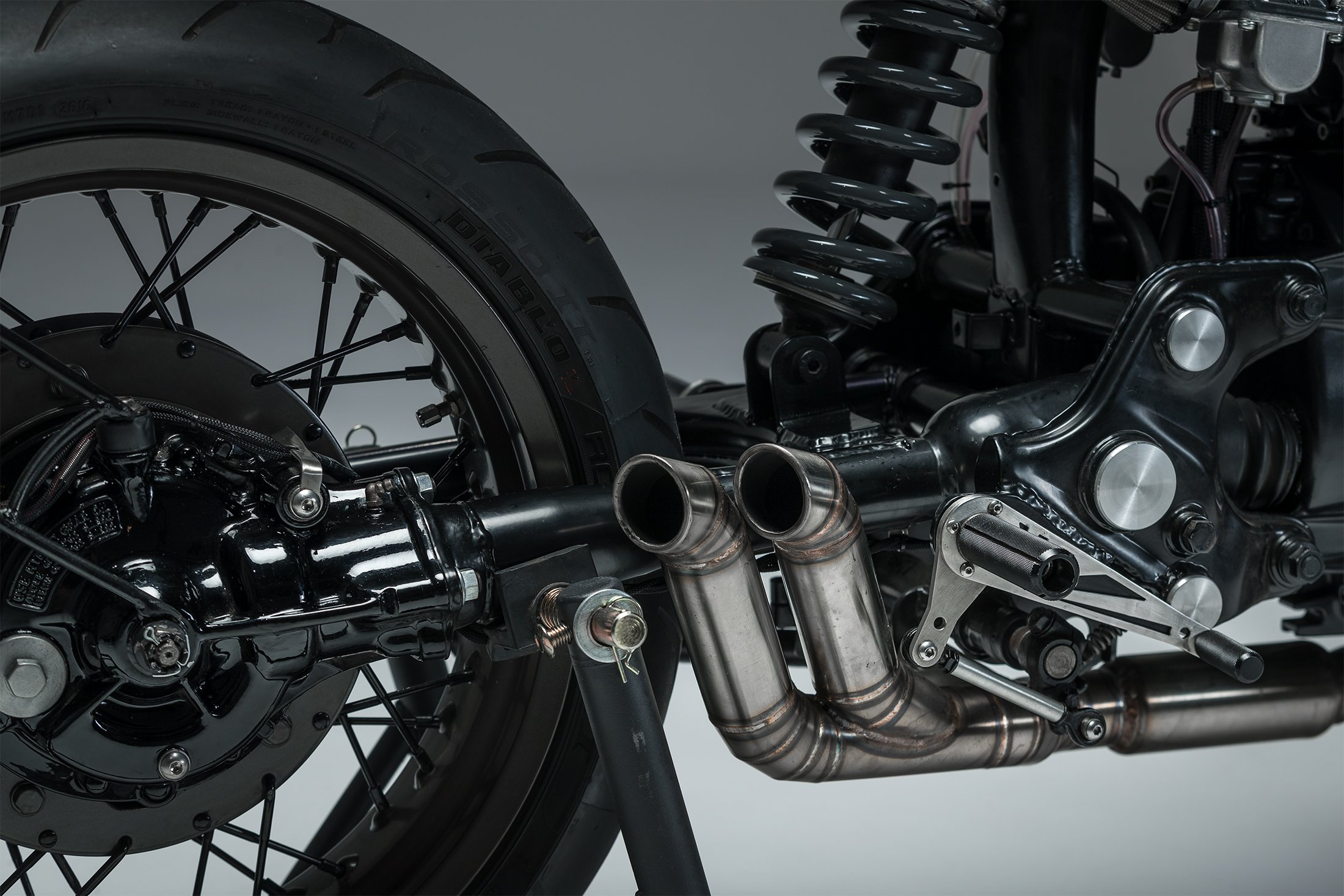 CX500 custom cafe racer honda exhaust
