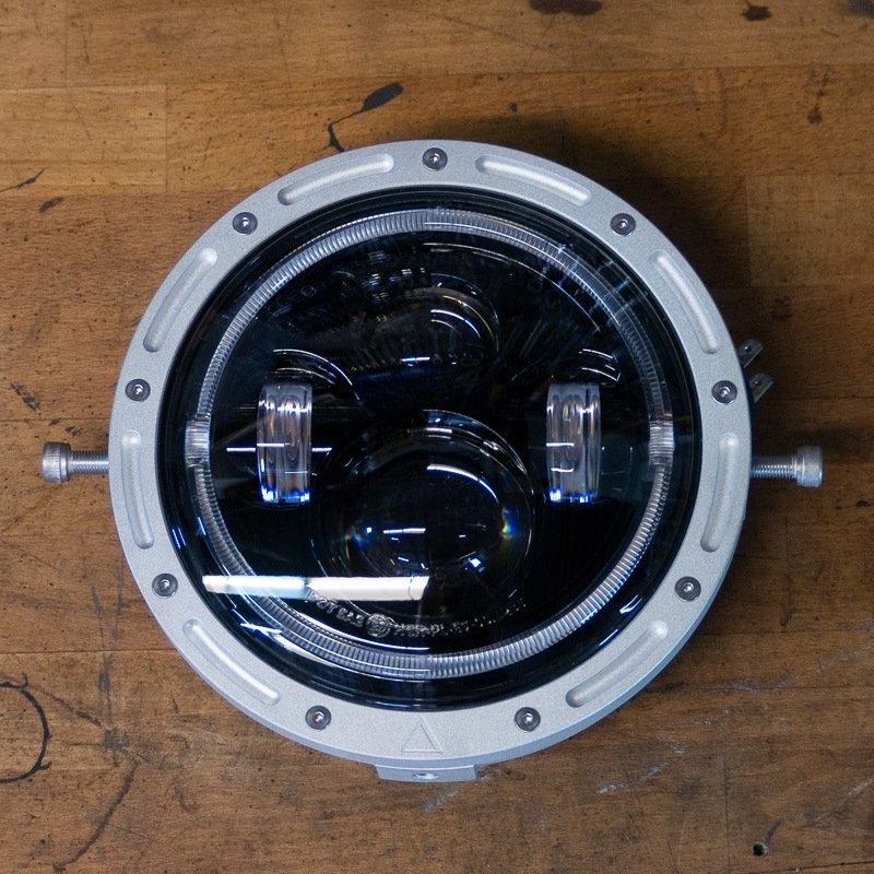 """7"""" LED moto headlight australia Cafe Racer"""