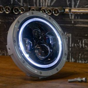 LED cafe racer headlight triumph