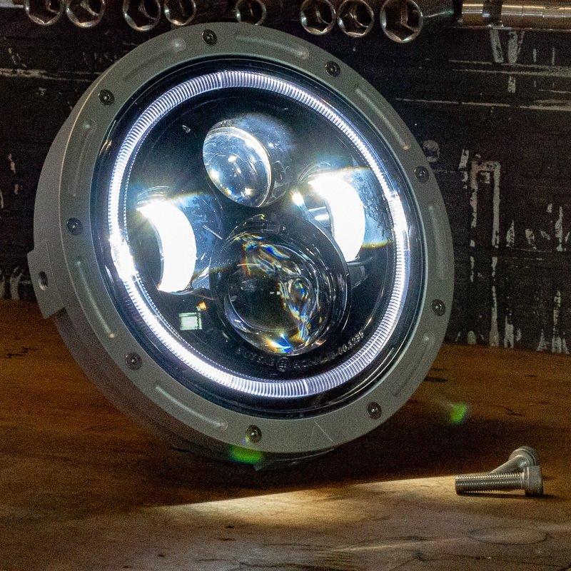 7 Inch street fighter headlight LED cafe racer chopper