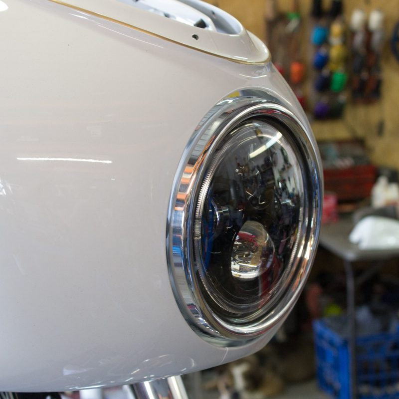LED headlight CLassic retro style cafe racer
