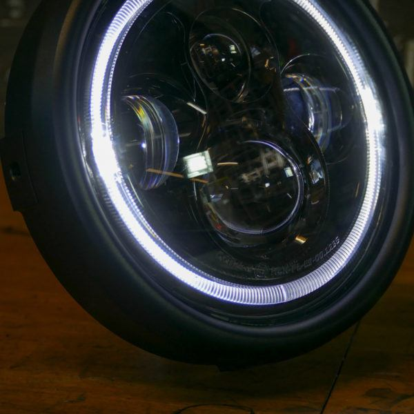 LED bike headlight bobber chopper cafe racer scrambler