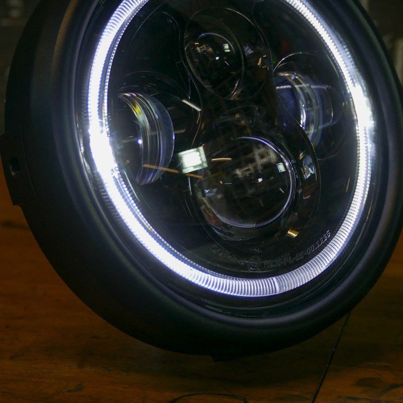 LED bike headlight bobber chopper cafe racer scrambler