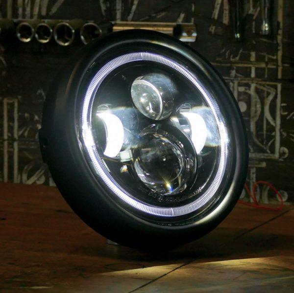 classic styled LED headlight motorbike