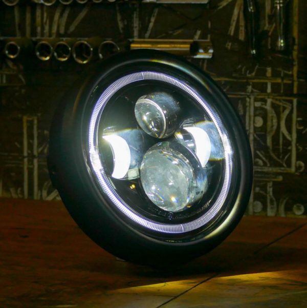 LED flashpoint classic motorcycle headlight cafe racer