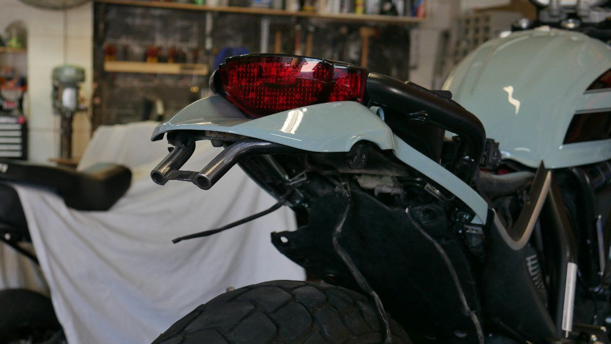 Ducati SCrambler custom tail tidy LED indicator