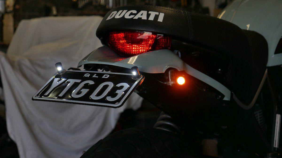 Ducati SCrambler tail tidDIY fender eliminator