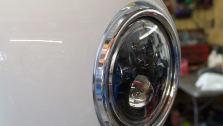 Thruxton cafe racer LED headlight