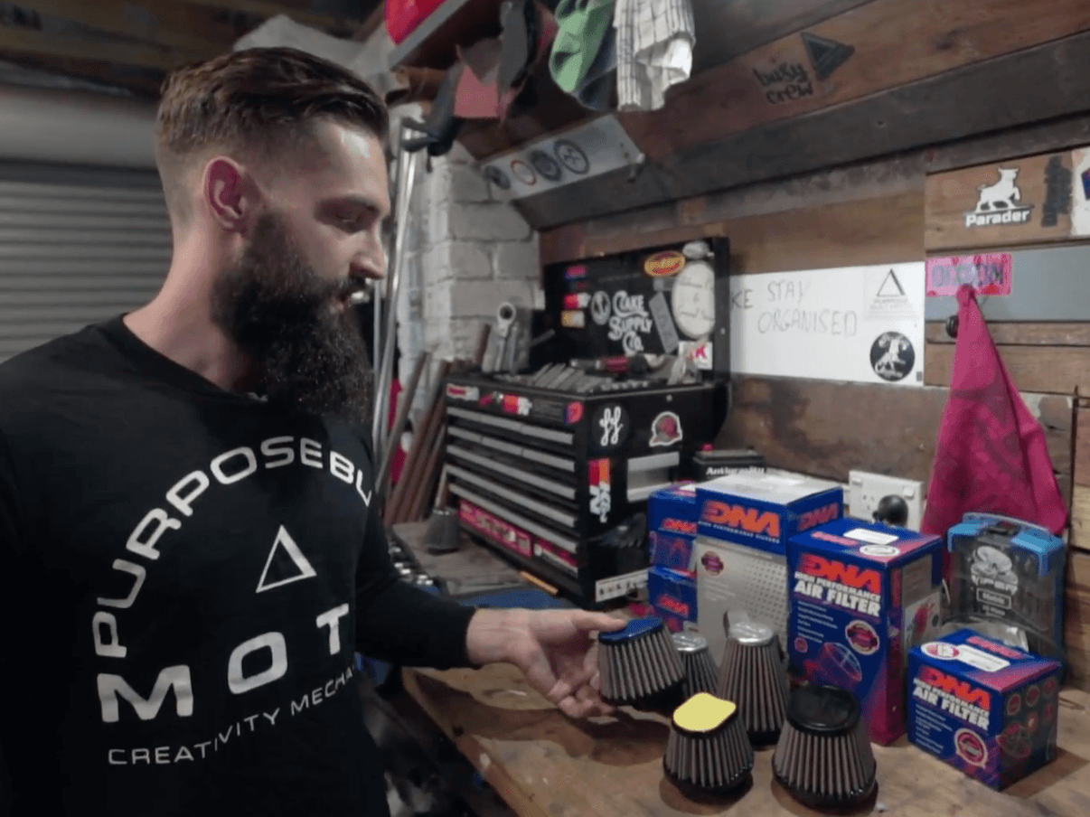 dna motorcycle filters installation video