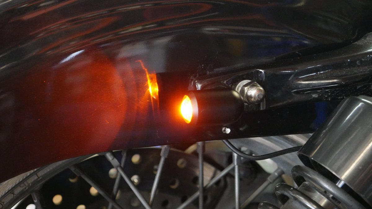 LED turn signal blinker install harley sportster iron 883