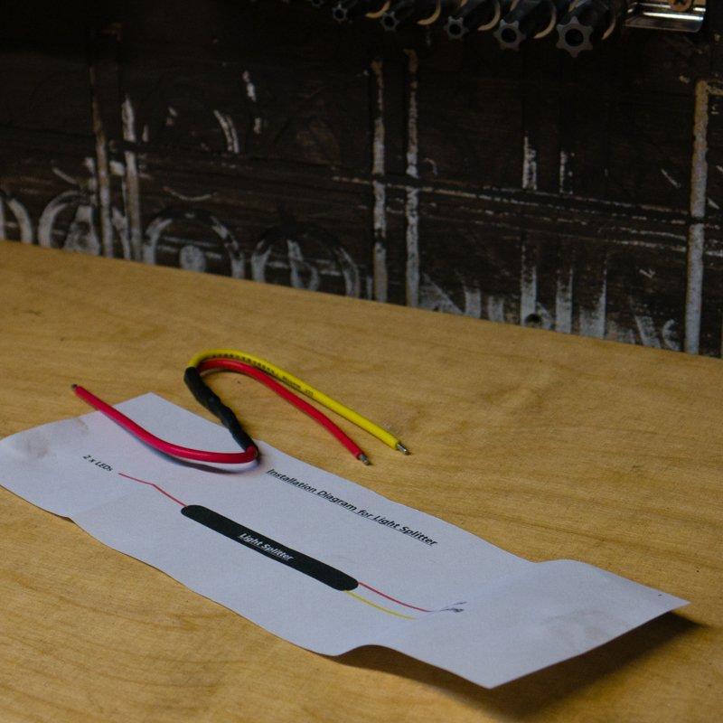 Brake/Tail light LED splitter for LED turn signals
