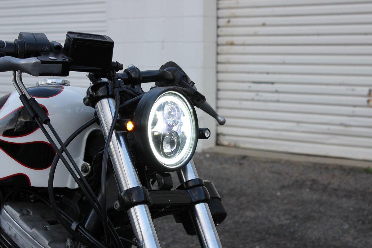 3 in 1 LED turn signal install Sportster - Purpose Built Moto
