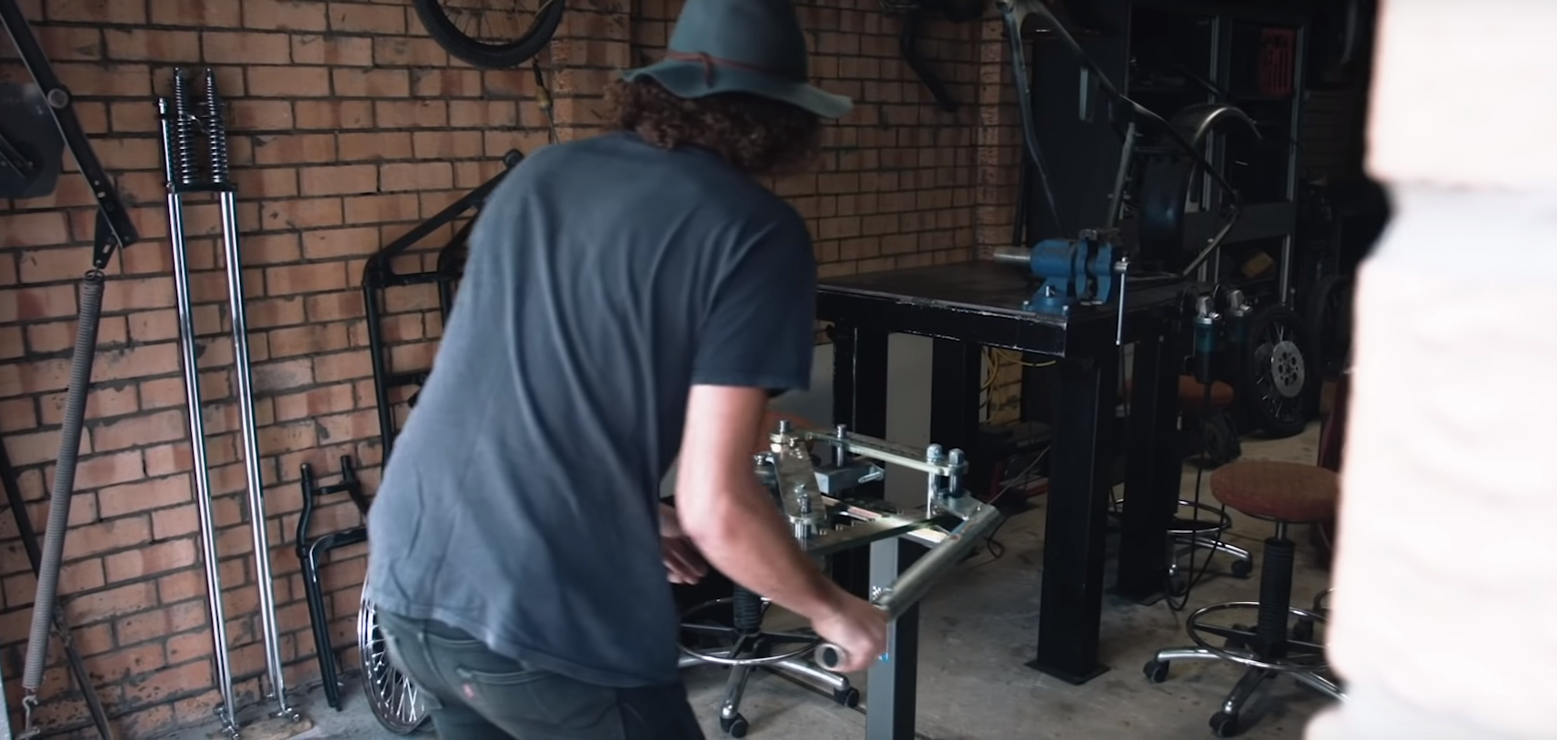 Brado Miller Milwerx custom bike film chopper