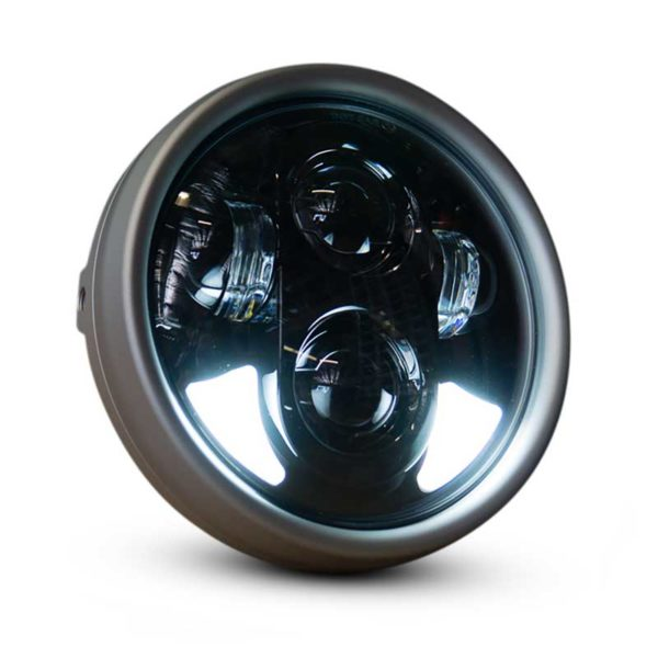 Flashpoint Classic Motorcycle LED Headlight 5.75 Raw