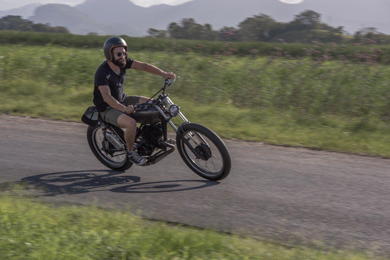 Custom Suzuki TS185 Street Tracker - Purpose Built Moto