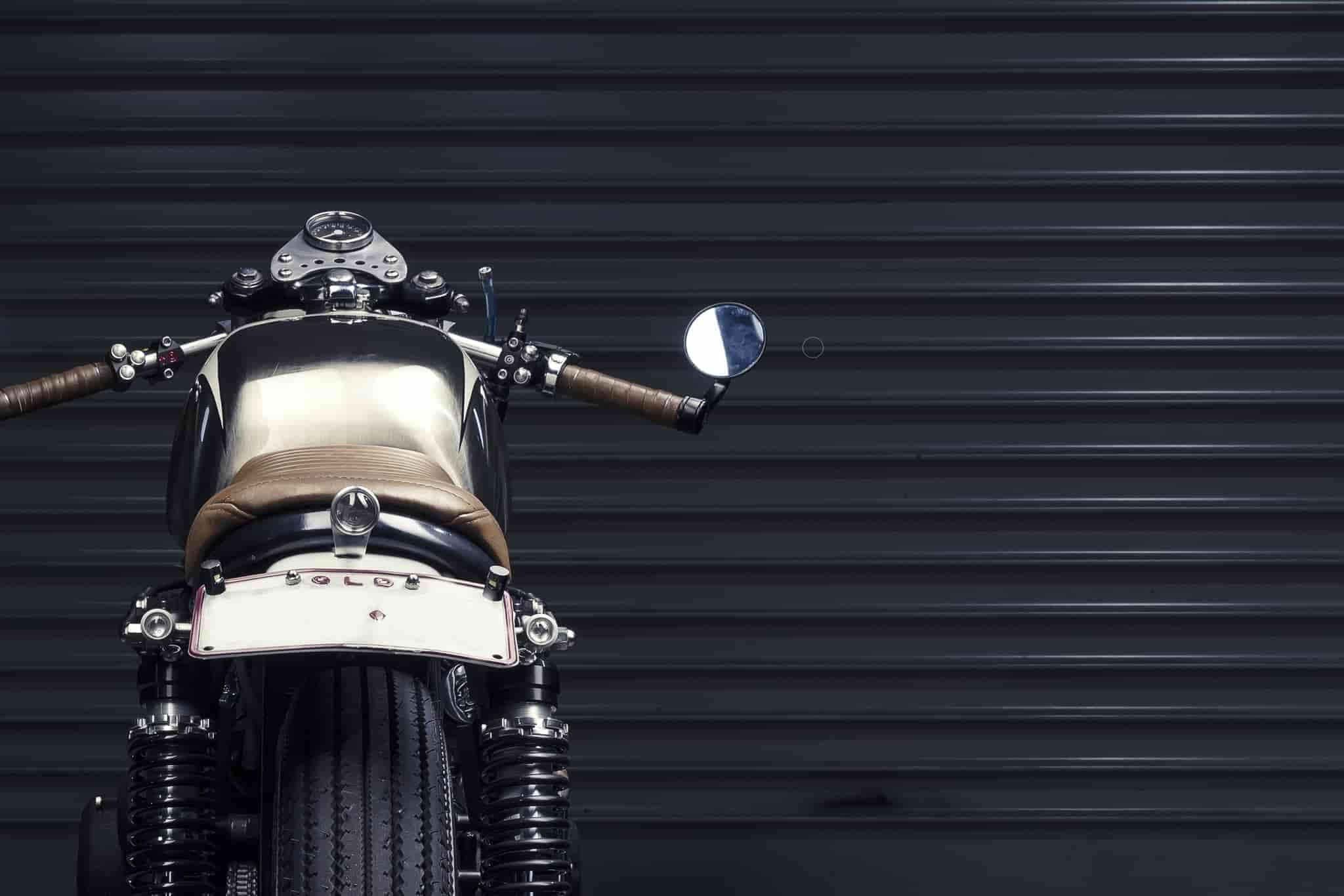 bike handlebars view from behind