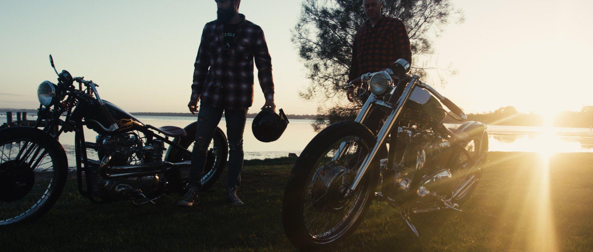 custom motorcycle film documentary custom bike cafe racer