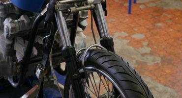 motorcycle fork brace DIY cafe racer chopper scrambler